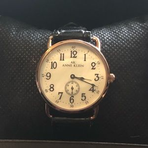 EUC Anne Klein ladies watch with leather band